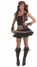 Head Scarf Pirate Blk/Red