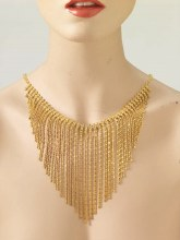 Necklace Flapper Dangles Gold