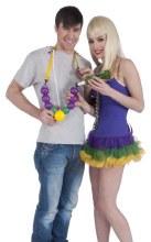 Beads Drinking Mardi Gras
