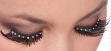 Eyelashes Black with Gems