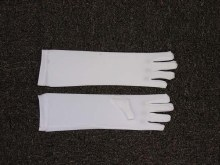 Gloves White Child Nylon