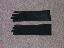 Gloves Black Child Nylon