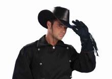 Gloves Fringe Western Blk
