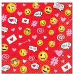 Valentine Emoji Beverage Napkins 36ct