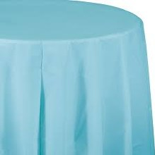 Blue Pastel Round Plastic Tablecover