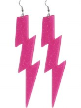 Earrings Lightning Bolts Pink