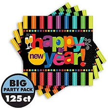 Bright New Year Beverage Napkins