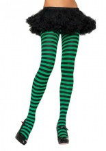 Tights Striped Blk/Green