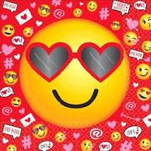 Valentine Emoji Lunch Napkins