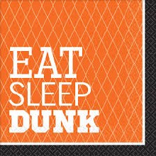 Eat Sleep Dunk Lunch Napkins 16ct