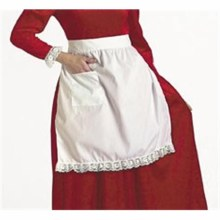 Mrs. Clause Cotton Apron w/ Pocket