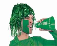 Wig Tinsel Long Green