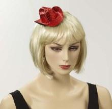 Hat Cowboy Red Sequin Mini
