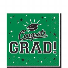 School Colors Green Lunch Napkins 36ct