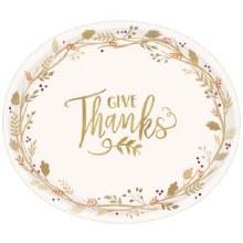Always Thankful Oval Plt