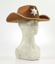 Hat Cowboy Brown Sherrif Child