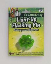 Flashing Shamrock Pin