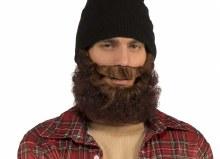Curly Bear w/ Mustache BLK