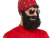 Curly Beard w/ Mustache