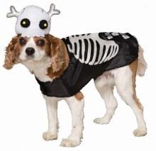 Pet Costume Skeleton XS