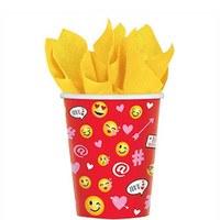 Valentine Emoji 9oz Cups