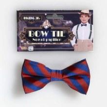 Bow Tie Stripe Rd/Bl