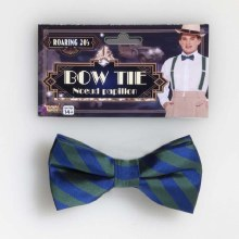 Bow Tie Stripe Grn/Bl