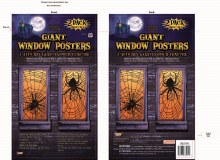 Window Poster Giant Spiders