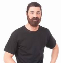 Beard and Stache Brown