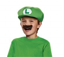 Luigi Hat W/ Moustache Child