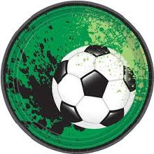 Soccer 7in Plates 8ct