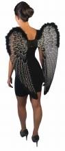 Wings Angel Black LargeGlitter