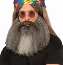 Moustache N' Beard Hippie