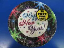 Happy New Year Fireworks Plates