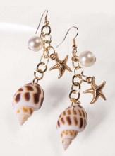 Earrings Shell Mermaid