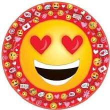 Valentine Emoji 9in Plate 18ct
