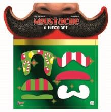 Christmas Mustache Set