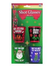Christmas Shot Glasses ~ 4 Pack