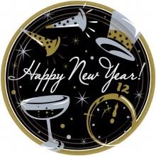 Happy New Year Plates