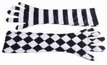 Gloves Mismatched HarlequinB/W