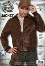 Bomber Jacket Brown One Size