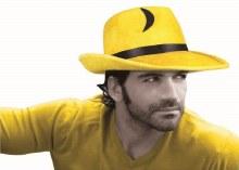 Fedora Yellow Pop Art
