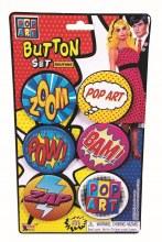 Buttons POP ART 6pk