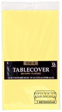 Lt Yellow Pl. Tablecover