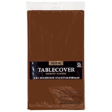 Chocolate Brown Pl. Tablecover