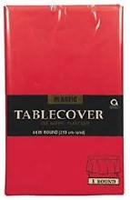 Apple Red Round Plastic Tablecover