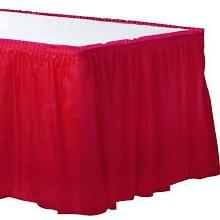 Apple Red Tableskirt