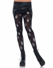 Tights Mystical Symbols Black
