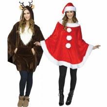Poncho Plush Santa w/ hat