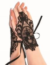 Glovelets Gothic Lace Blk
